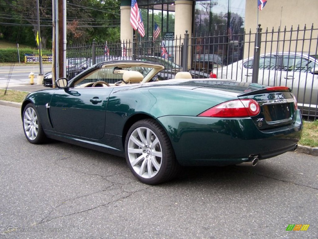emerald fire green metallic 2007 jaguar xk xk8 convertible. Black Bedroom Furniture Sets. Home Design Ideas