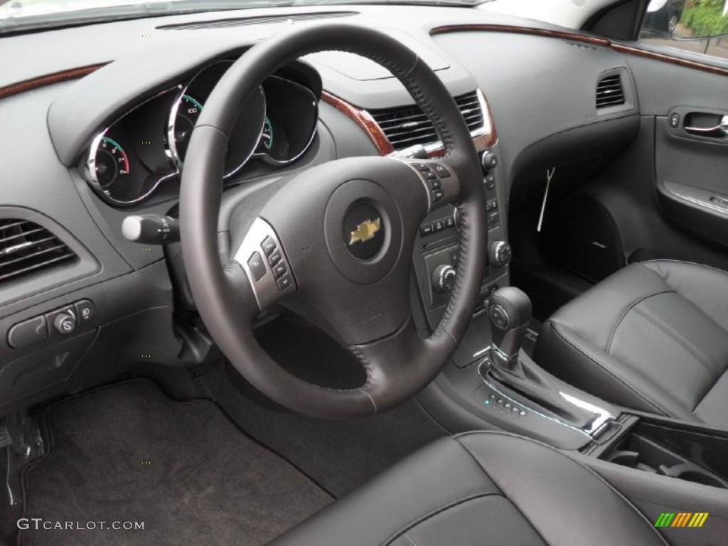 Ebony Interior 2012 Chevrolet Malibu Ltz Photo 52197253