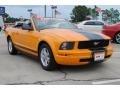 2007 Grabber Orange Ford Mustang V6 Premium Convertible  photo #3