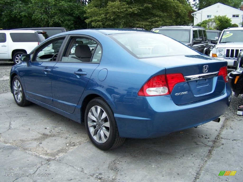 2009 Atomic Blue Metallic Honda Civic Ex Sedan 52150415 Photo 2 Gtcarlot Com Car Color