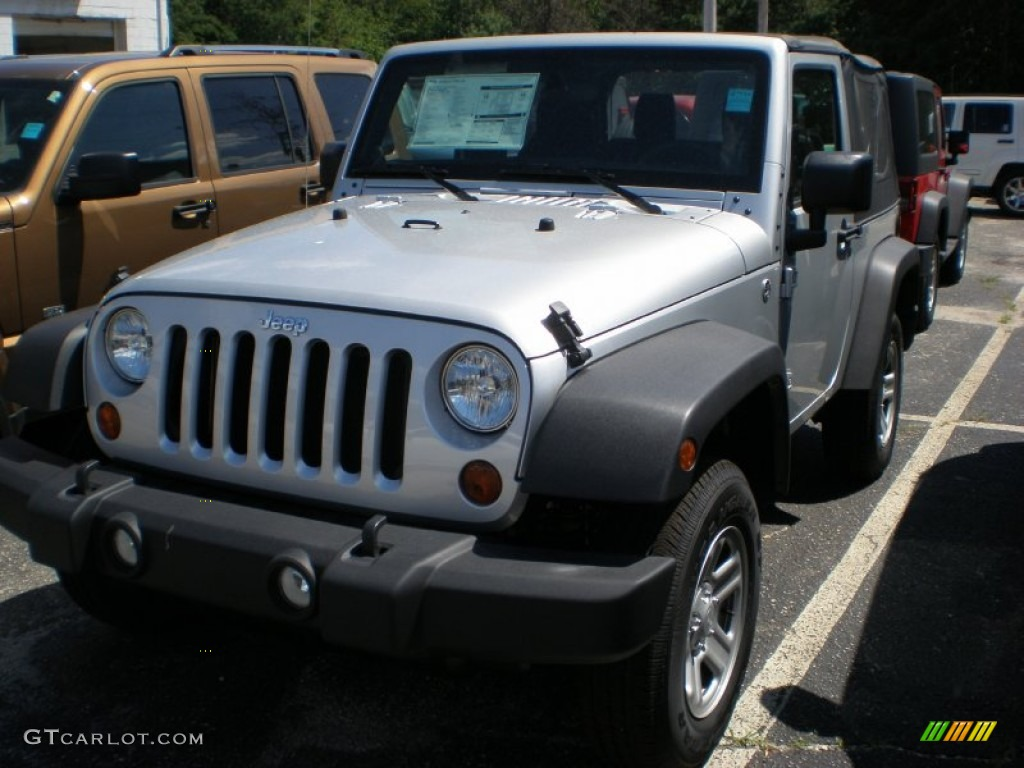2011 Wrangler Sport 4x4 - Bright Silver Metallic / Black photo #1