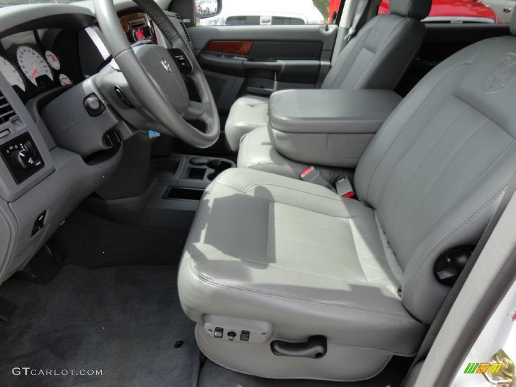 Medium Slate Gray Interior 2007 Dodge Ram 1500 Laramie Mega Cab Photo 52222051