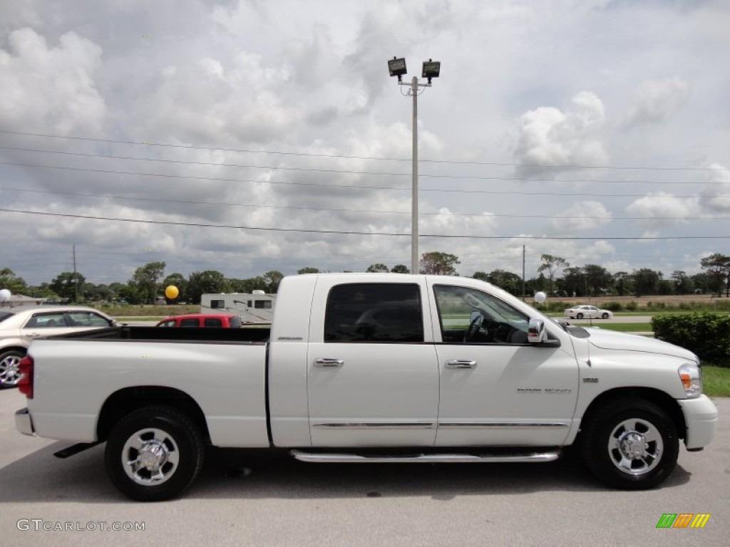 Bright White 2007 Dodge Ram 1500 Laramie Mega Cab Exterior Photo #52222141