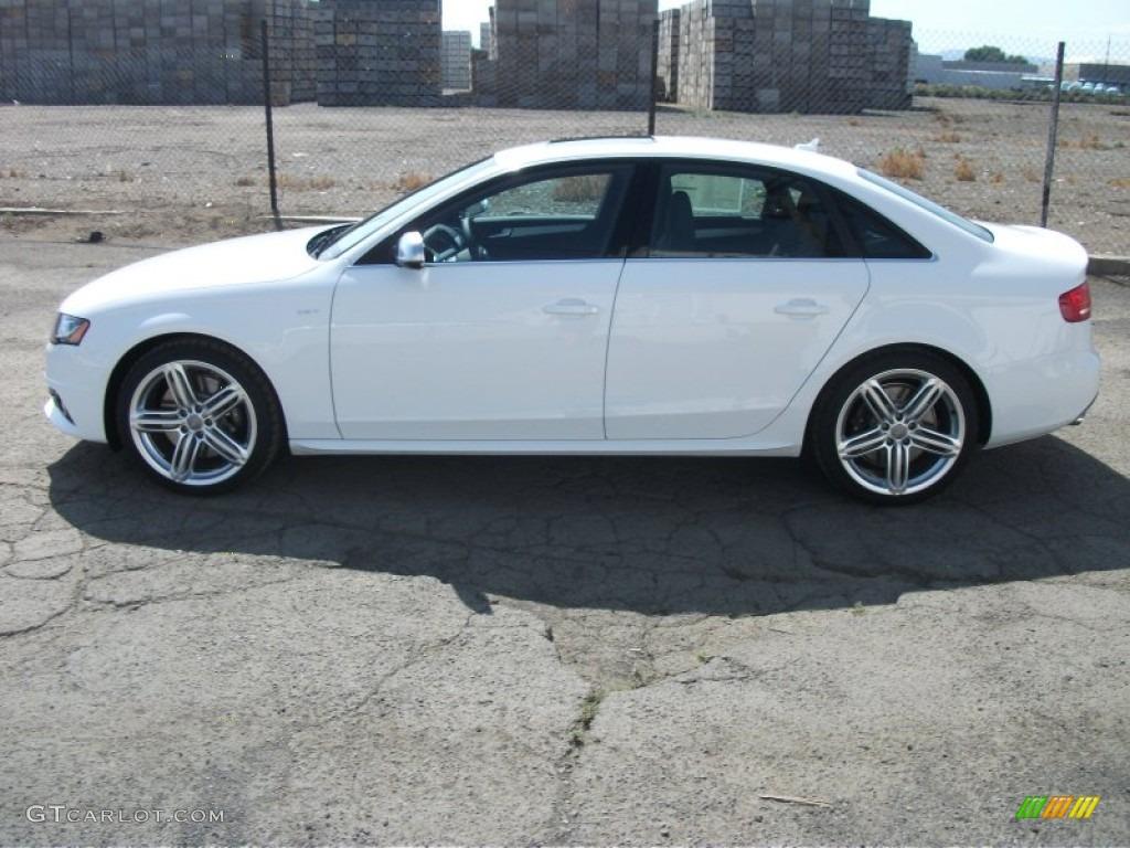 Ibis White 2012 Audi S4 3 0t Quattro Sedan Exterior Photo