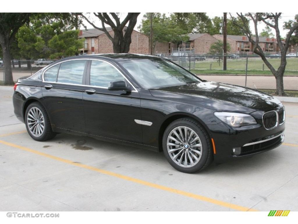 Black Sapphire Metallic 2012 BMW 7 Series 740i Sedan Exterior Photo 52234921