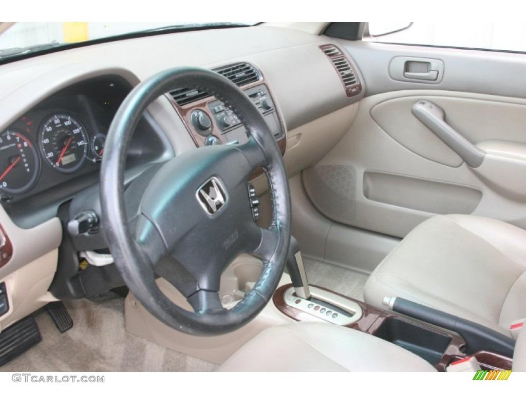 Beige Interior 2001 Honda Civic Ex Sedan Photo 52237690