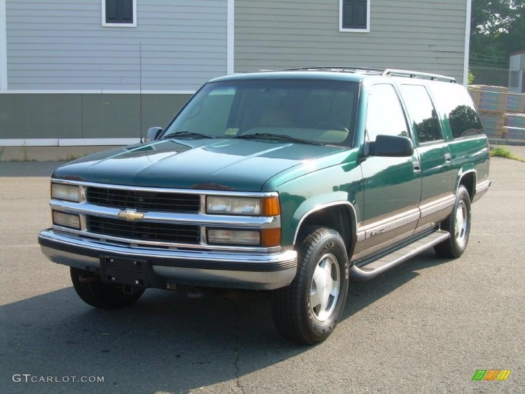 Emerald green metallic 1996 chevrolet suburban k1500 4x4 exterior photo 52258954 gtcarlot com