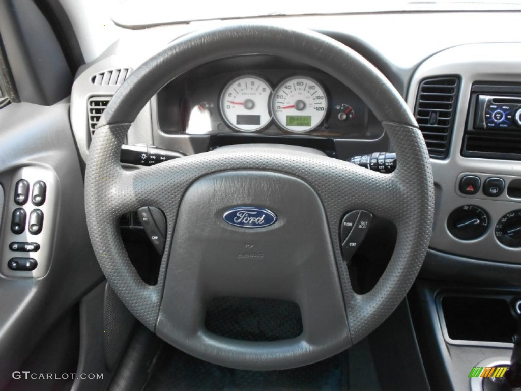 2005 Ford Escape Xlt V6 Medium Dark Flint Grey Steering