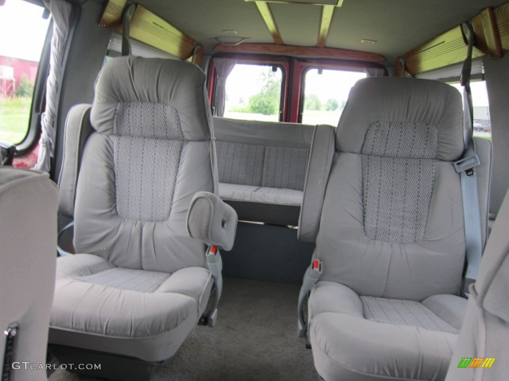 1994 econoline e150 passenger conversion van electric current red metallic gray photo 4