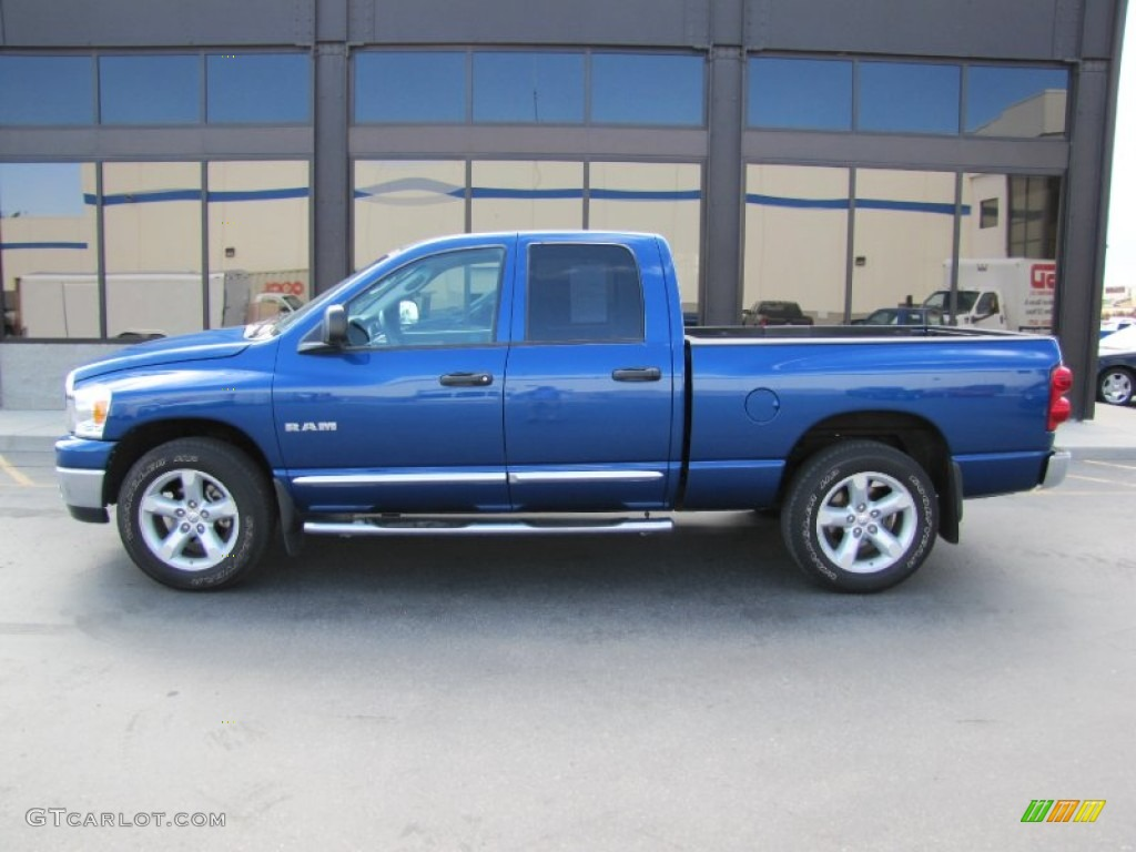 Electric Blue Pearl 2008 Dodge Ram 1500 Big Horn Edition Quad Cab Exterior Photo 52270612