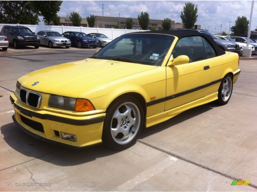 dakar yellow 1998 bmw m3 convertible exterior photo #52272730