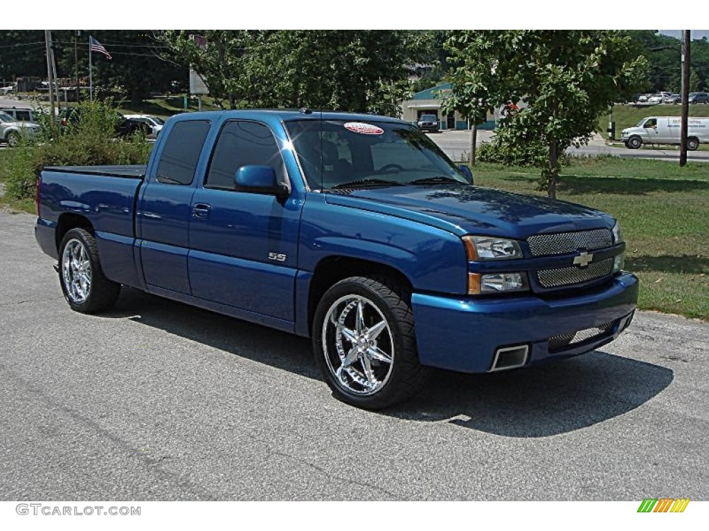 2003 arrival blue metallic chevrolet silverado 1500 ss. Black Bedroom Furniture Sets. Home Design Ideas