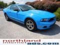 2011 Grabber Blue Ford Mustang V6 Premium Coupe  photo #2