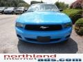 2011 Grabber Blue Ford Mustang V6 Premium Coupe  photo #3