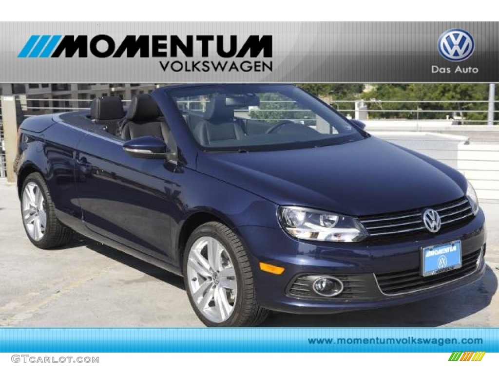 2012 night blue metallic volkswagen eos executive. Black Bedroom Furniture Sets. Home Design Ideas