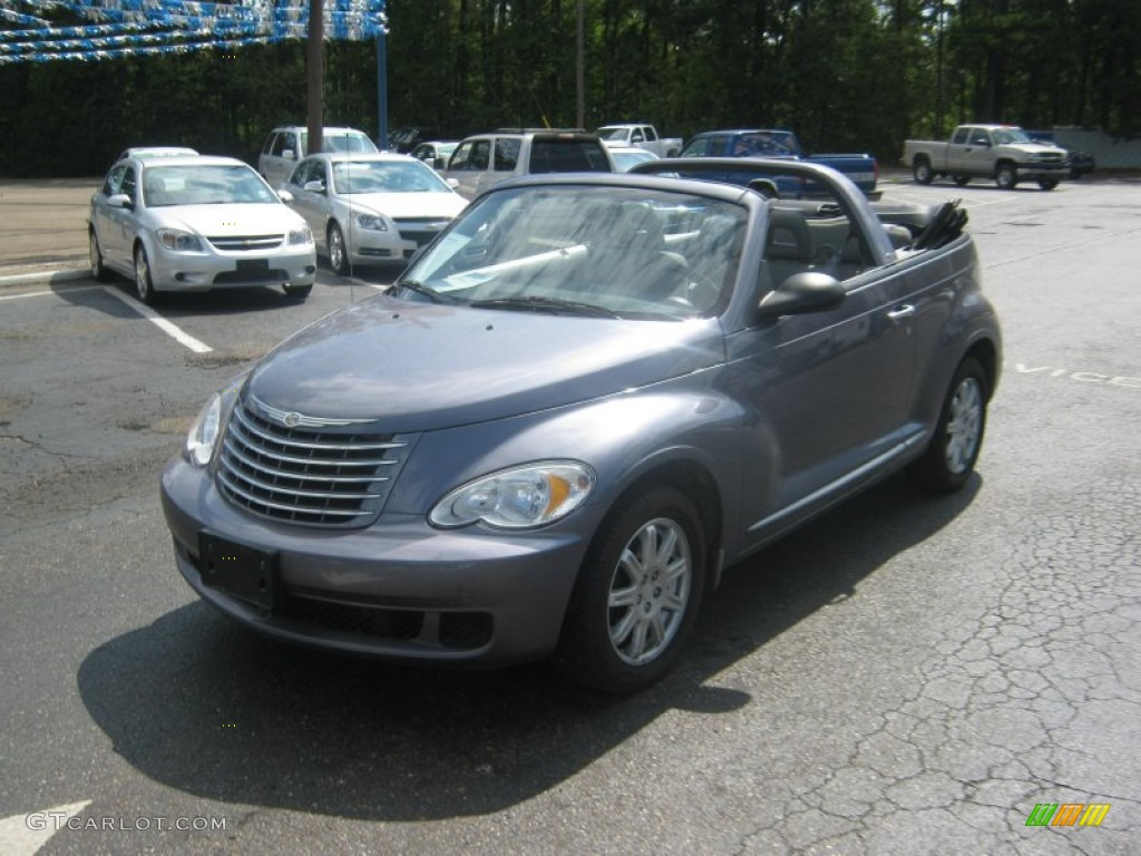 2007 PT Cruiser Convertible - Opal Gray Metallic / Pastel Slate Gray photo #1