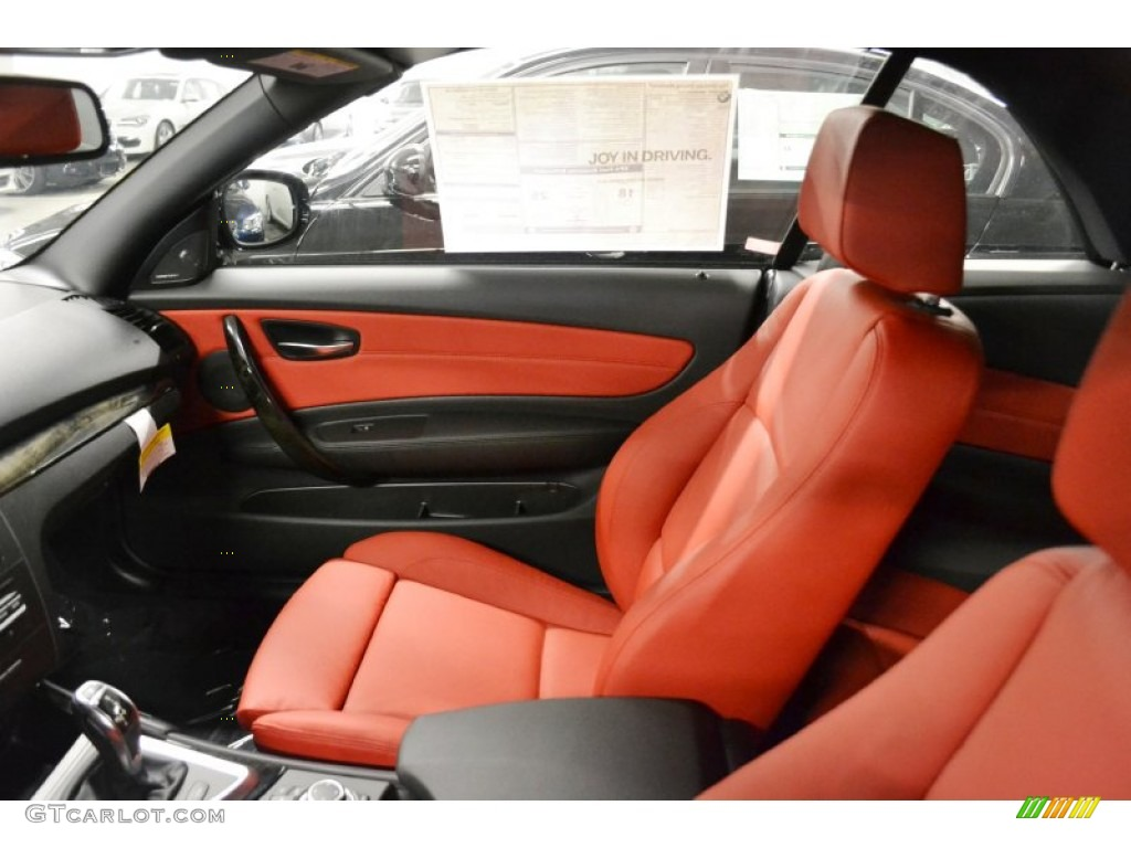 Coral Red Interior 2012 Bmw 1 Series 135i Convertible Photo 52321344