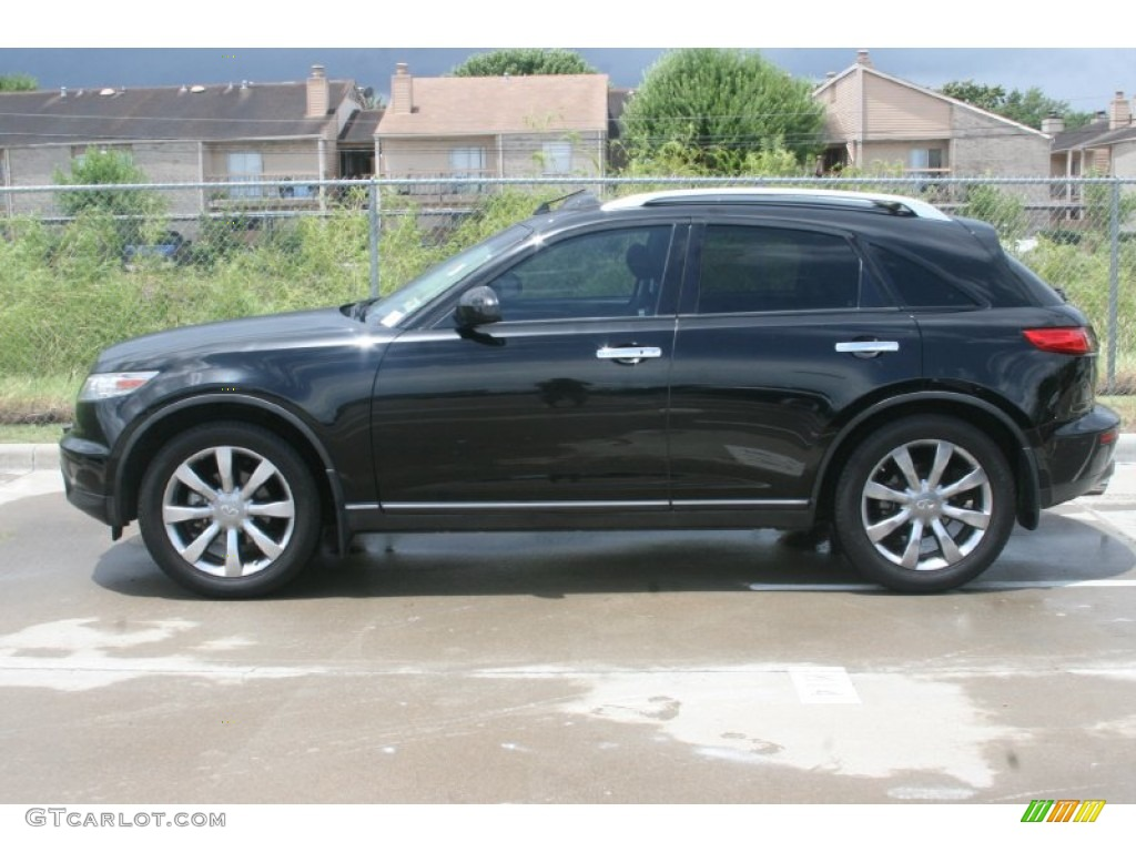 Black Obsidian 2004 Infiniti Fx 35 Exterior Photo