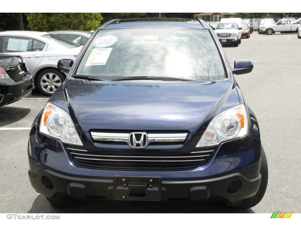 2008 CR-V EX-L 4WD - Royal Blue Pearl / Gray photo #2