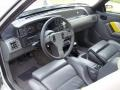 1989 Ford Mustang Saleen Grey/White/Yellow Interior Prime Interior Photo