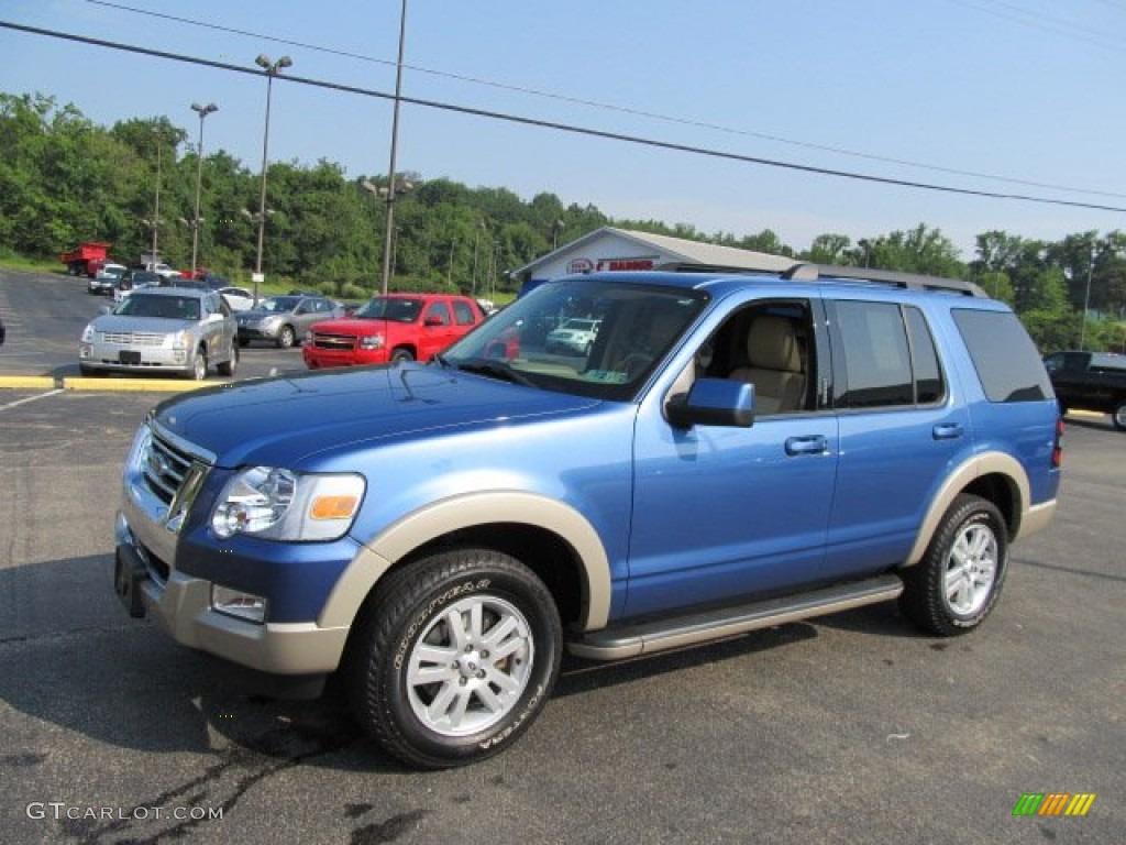 sport blue metallic 2009 ford explorer eddie bauer 4x4 exterior photo 52336815. Black Bedroom Furniture Sets. Home Design Ideas
