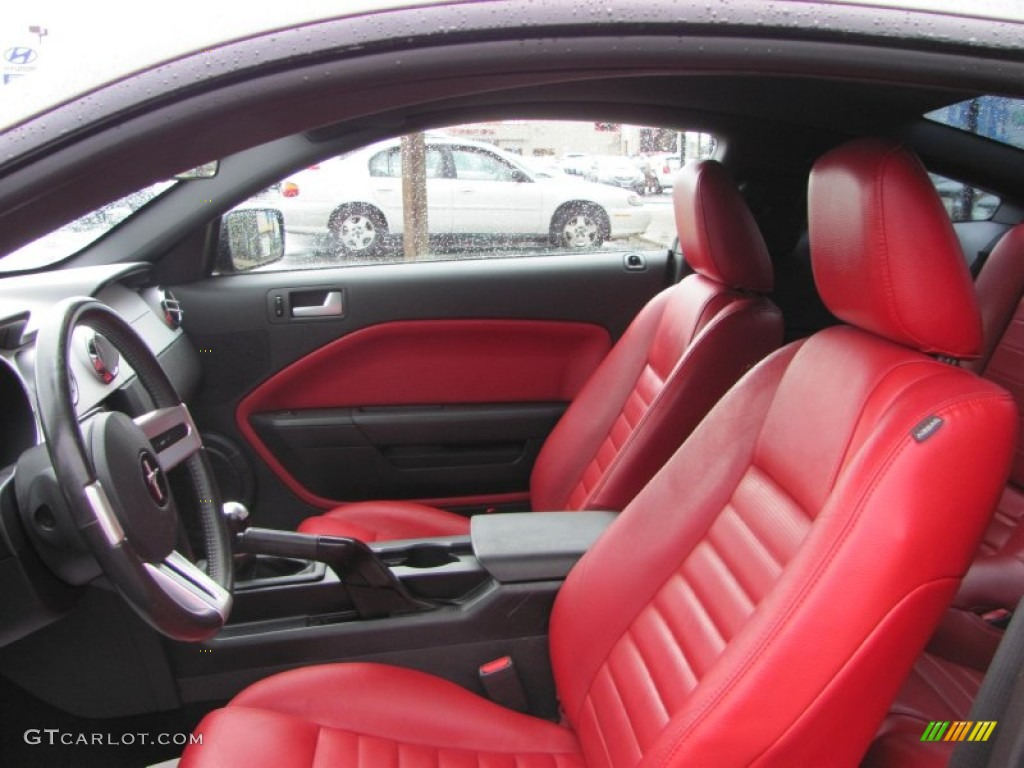 Red leather interior 2005 ford mustang gt premium coupe photo 52343082 for 2005 ford mustang convertible interior