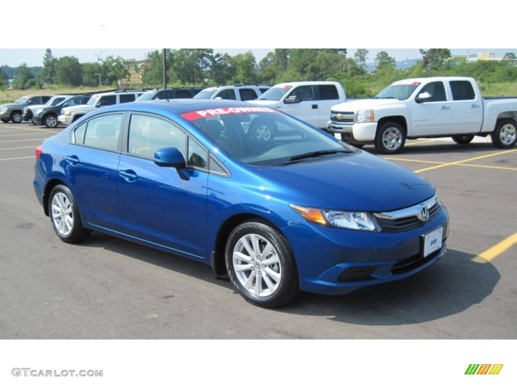 Dyno Blue Pearl 2012 Honda Civic Ex L Sedan Exterior Photo