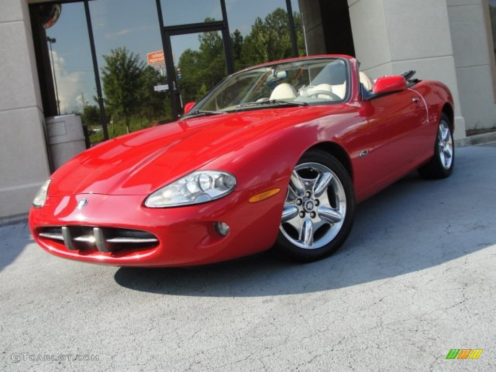 Jaguar xk coupe red - photo#24