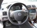 2011 Jaguar XK Warm Charcoal/Warm Charcoal Interior Steering Wheel Photo