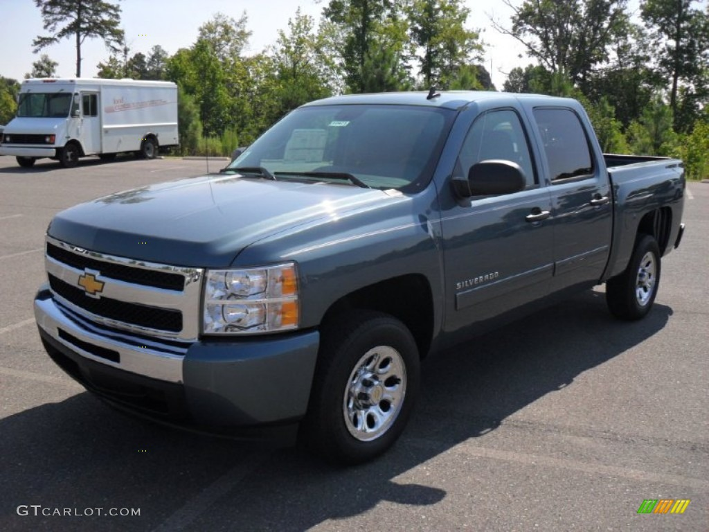2011 blue granite metallic chevrolet silverado 1500 lt crew cab 52362225 car. Black Bedroom Furniture Sets. Home Design Ideas