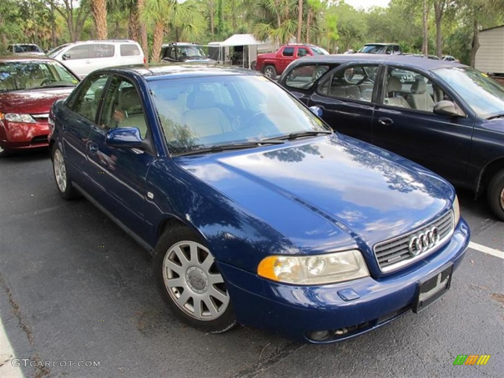 2000 pelican blue metallic audi a4 1 8t quattro sedan. Black Bedroom Furniture Sets. Home Design Ideas