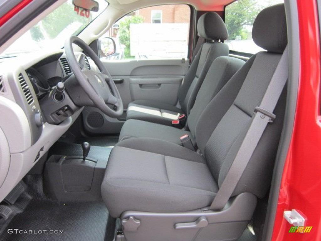 Dark Titanium Interior 2011 Chevrolet Silverado 1500 Regular Cab 4x4 Photo #52381426