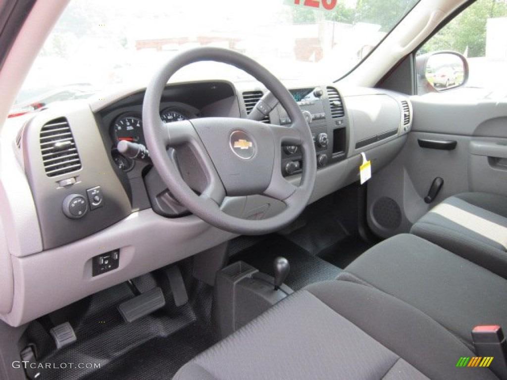 Dark Titanium Interior 2011 Chevrolet Silverado 1500 Regular Cab 4x4 Photo #52381438