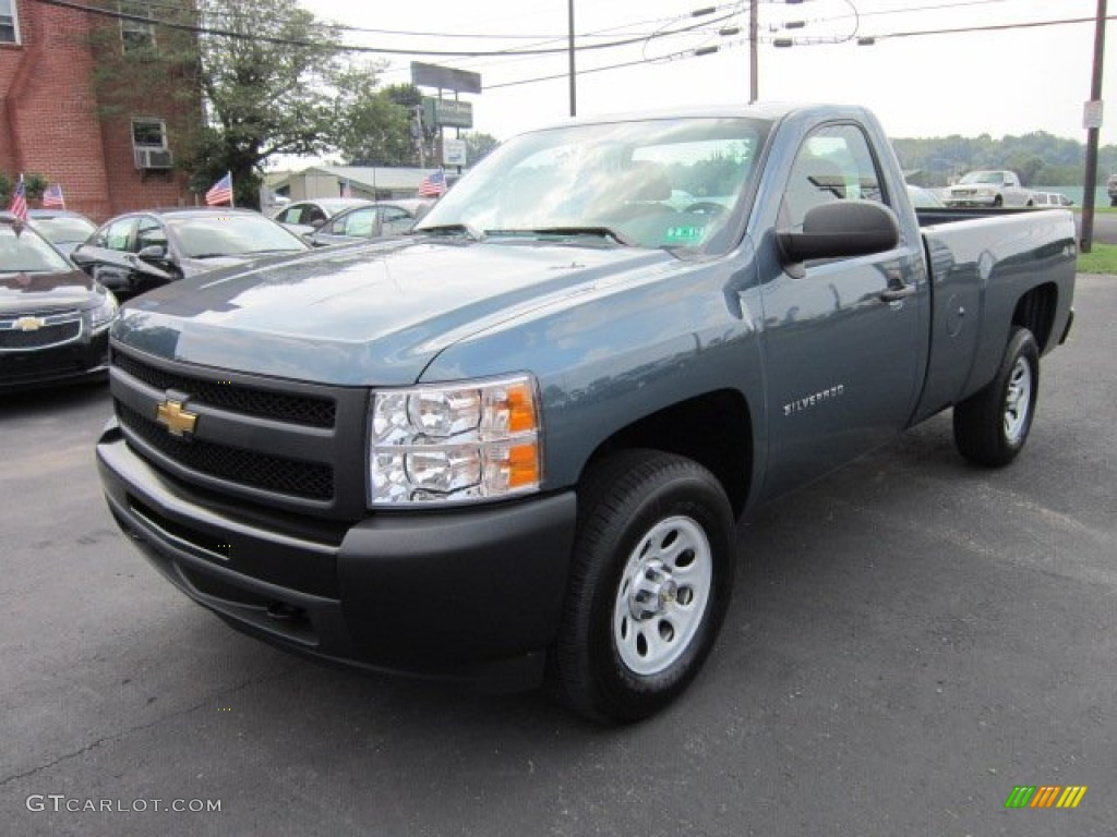 Blue Granite Metallic 2011 Chevrolet Silverado 1500 Regular Cab 4x4 Exterior Photo #52381591