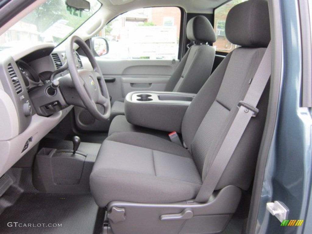 Dark Titanium Interior 2011 Chevrolet Silverado 1500 Regular Cab 4x4 Photo #52381696