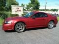 2001 Laser Red Metallic Ford Mustang GT Coupe  photo #1