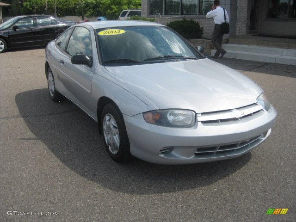 Ultra Silver Metallic 2003 Chevrolet Cavalier LS Coupe Exterior Photo #52402641