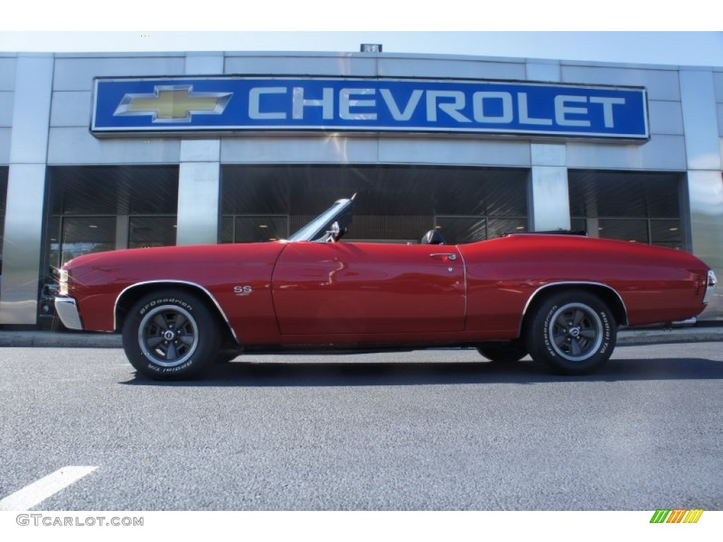 1971 Cranberry Red Chevrolet Chevelle Ss 454 Convertible