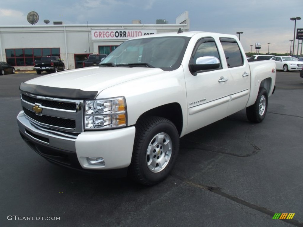 2011 Silverado 1500 LT Crew Cab 4x4 - White Diamond Tricoat / Light Cashmere/Ebony photo #1