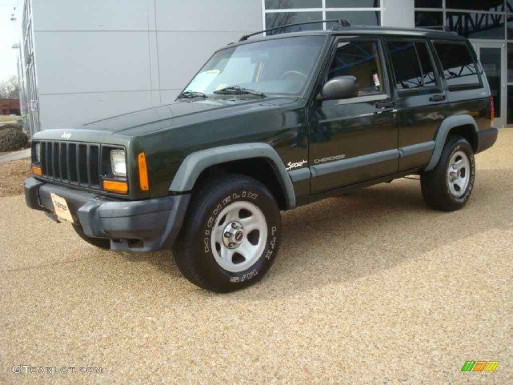 emerald green pearl 1998 jeep cherokee sport 4x4 exterior photo. Cars Review. Best American Auto & Cars Review