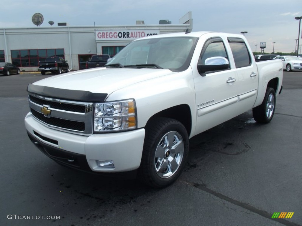2011 Silverado 1500 LTZ Crew Cab 4x4 - White Diamond Tricoat / Dark Cashmere/Light Cashmere photo #1