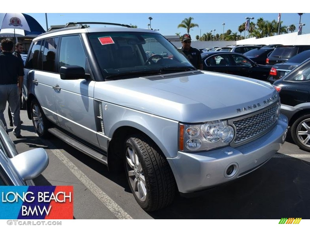 2007 Range Rover Supercharged - Zermatt Silver Metallic / Jet Black photo #1