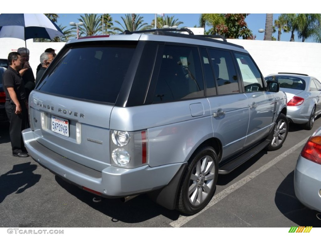 2007 Range Rover Supercharged - Zermatt Silver Metallic / Jet Black photo #3