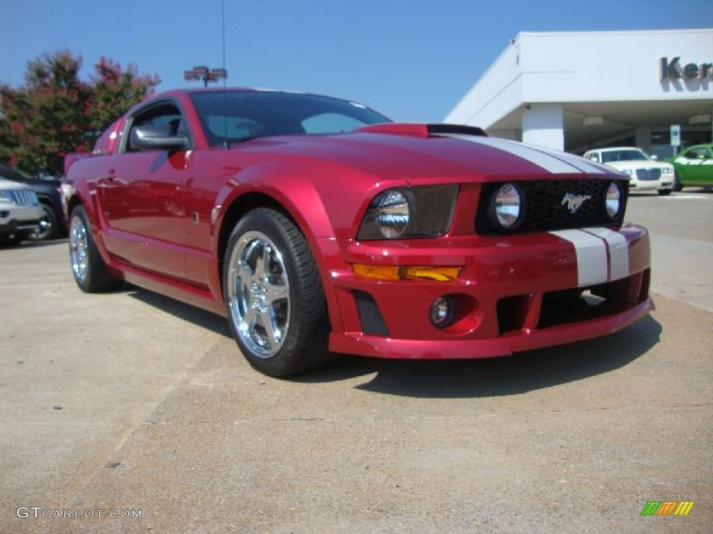 2007 Mustang ROUSH Stage 1 Coupe - Redfire Metallic / Roush Black/Grey photo #1