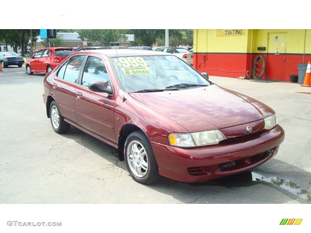 1999 aztec red nissan sentra gxe #52453906 | gtcarlot - car
