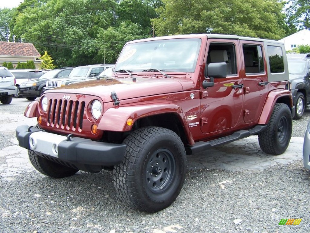Red Rock Crystal Pearl 2010 Jeep Wrangler Unlimited Sahara