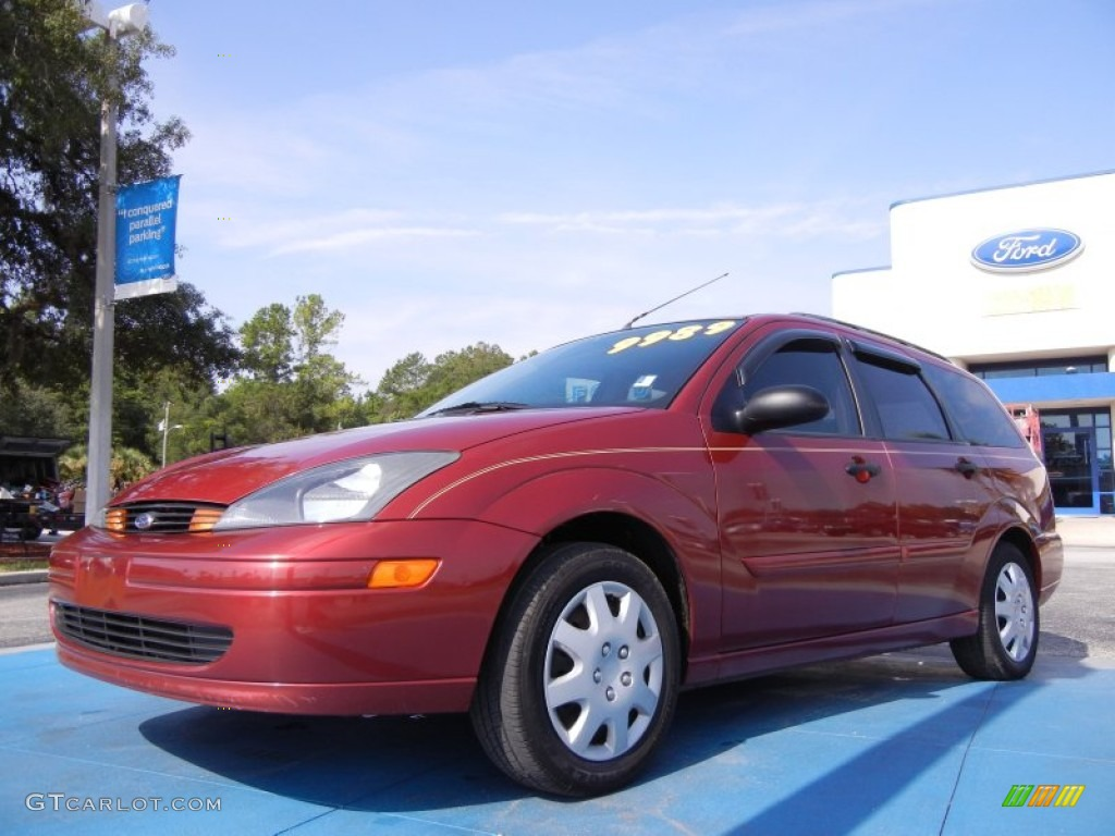 2004 sangria red metallic ford focus se wagon 52453369. Black Bedroom Furniture Sets. Home Design Ideas