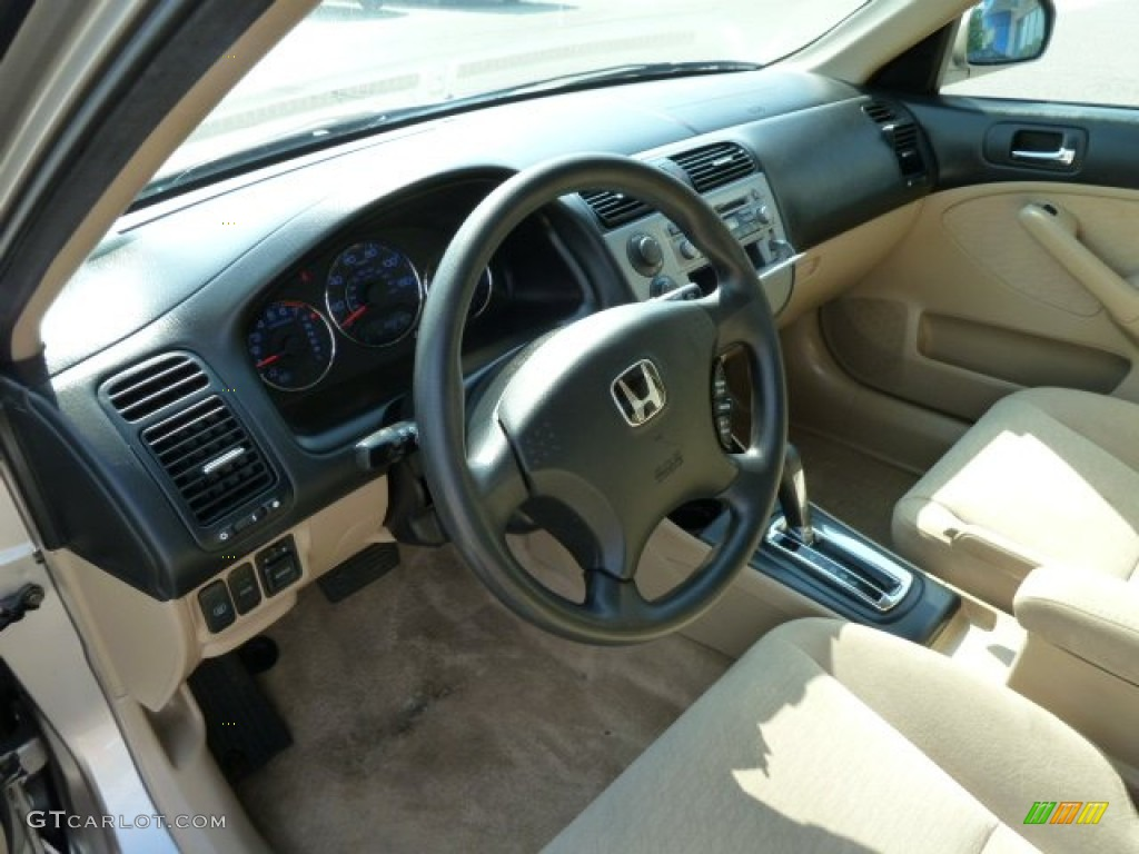 Ivory Beige Interior 2004 Honda Civic Hybrid Sedan Photo