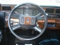 1989 Lincoln Town Car Dark Blue Interior Steering Wheel Photo