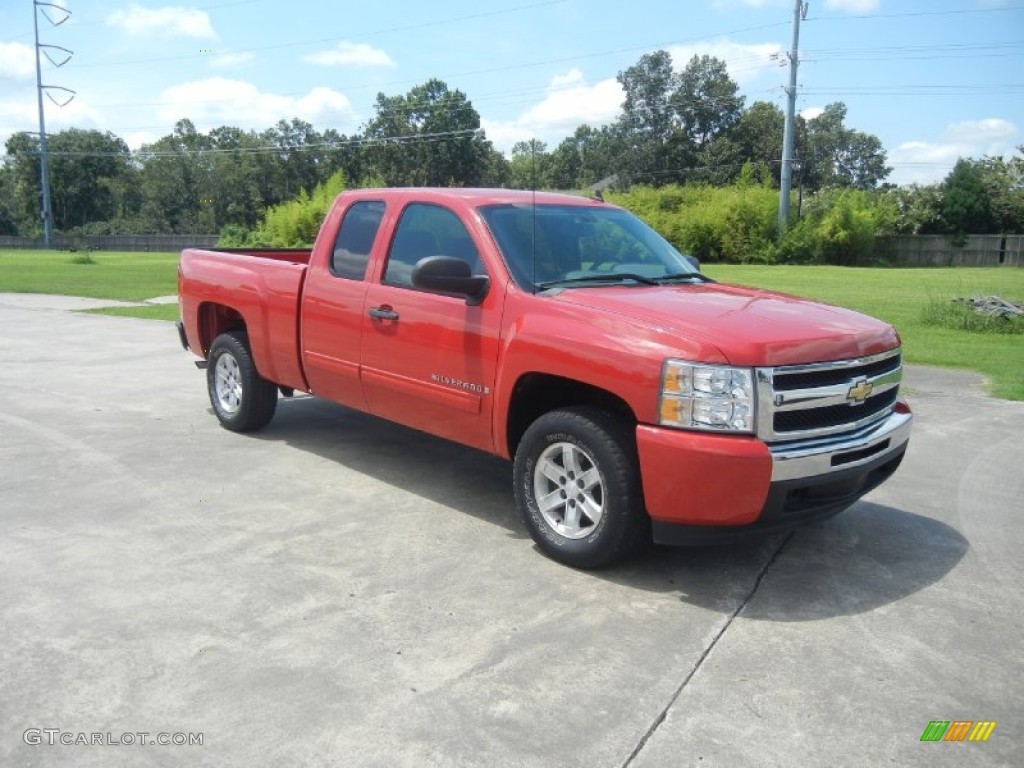 2009 Silverado 1500 LS Extended Cab - Victory Red / Dark Titanium photo #1